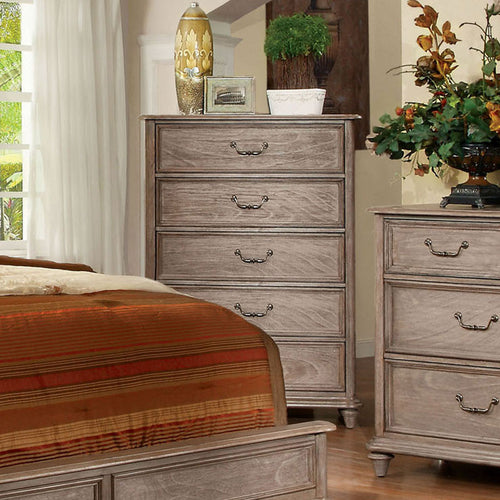 Belgrade Transitional Rustic Weathered Oak Bedroom Chest