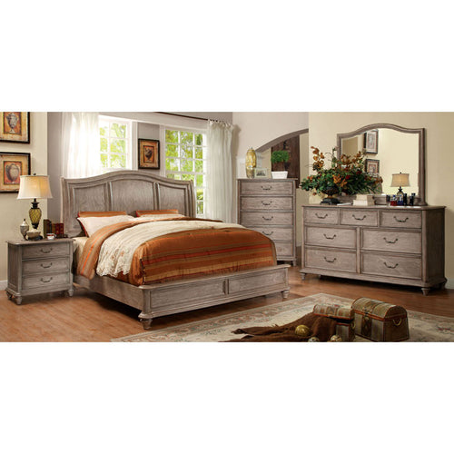 Belgrade II Transitional Rustic Weathered Oak 6-Piece Bedroom Set