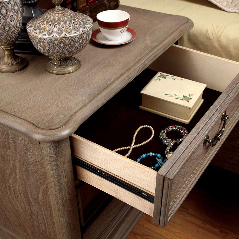 Transitional Style Bedroom Furniture: Norco Transitional Style Rustic Weathered Oak Finish 6