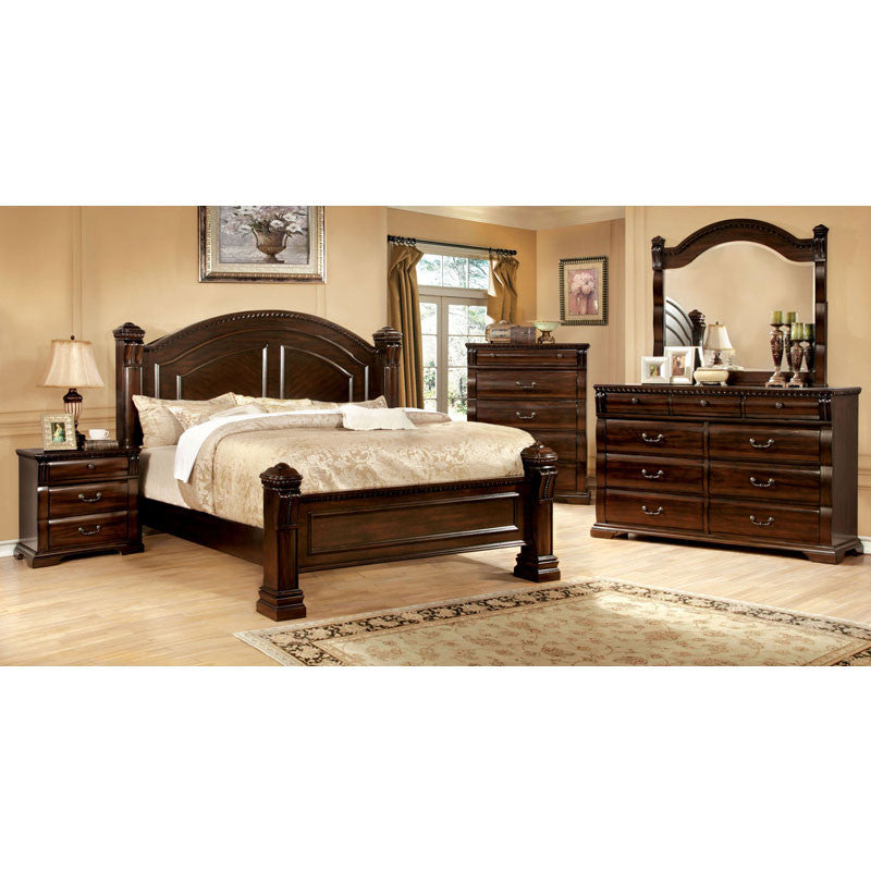 Burleigh traditional elegant style cherry finish 6 piece - Traditional bedroom furniture sets ...