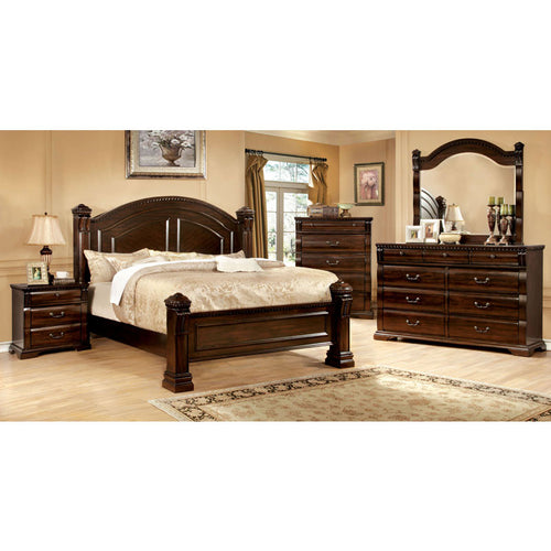 Burleigh Traditional Elegant Style Cherry Finish 6-Piece Bedroom Set