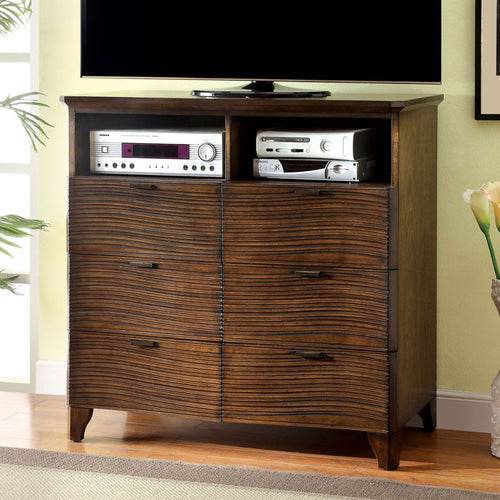 Bisbee Modern Style Cognac Finish Bedroom Media Chest