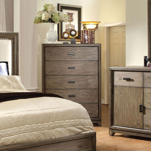 Antler Transitional Style Natural Ash Finish Bedroom Chest