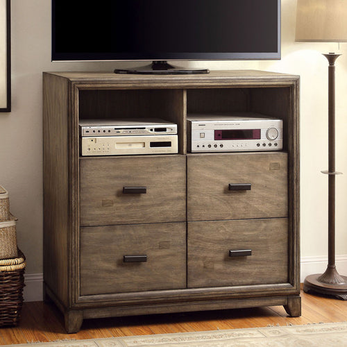 Antler Transitional Natural Ash Bedroom Media Chest