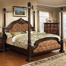 Monte Vista Luxury Style Leatherette Canopy Bed