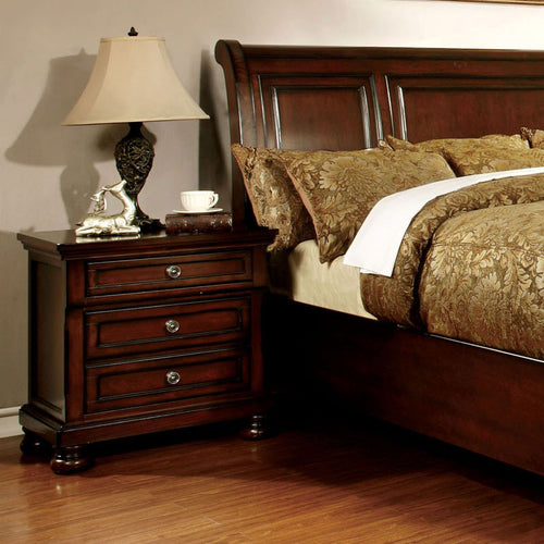 Northville Traditional Elegant Style Cherry Finish Bedroom Nightstand