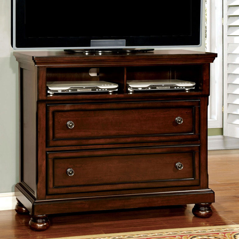 Northville Traditional Elegant Style Cherry Finish Bedroom Media Chest