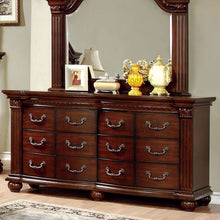 Grandom Traditional Elegant Style Cherry Finish 6-Piece Bedroom Set