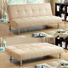 Dewey Contemporary Style Fabric Finish Futon Sofa