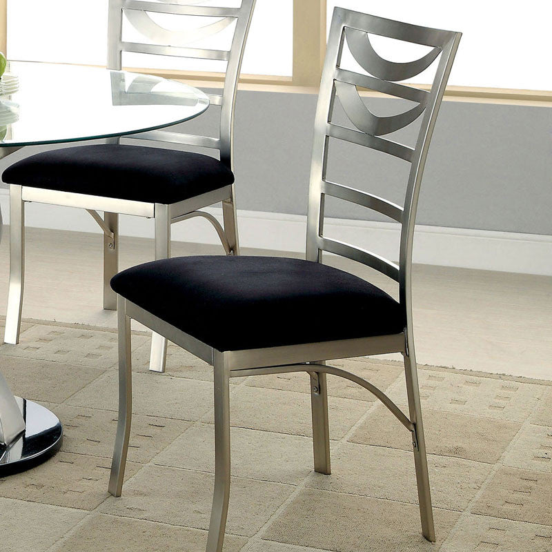Roxo Modern Style Stain-Plated Dining Chairs