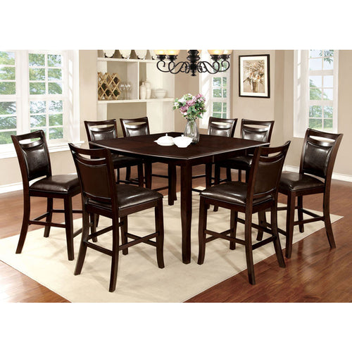 Woodside Dark Cherry Finish Counter Height Table Set