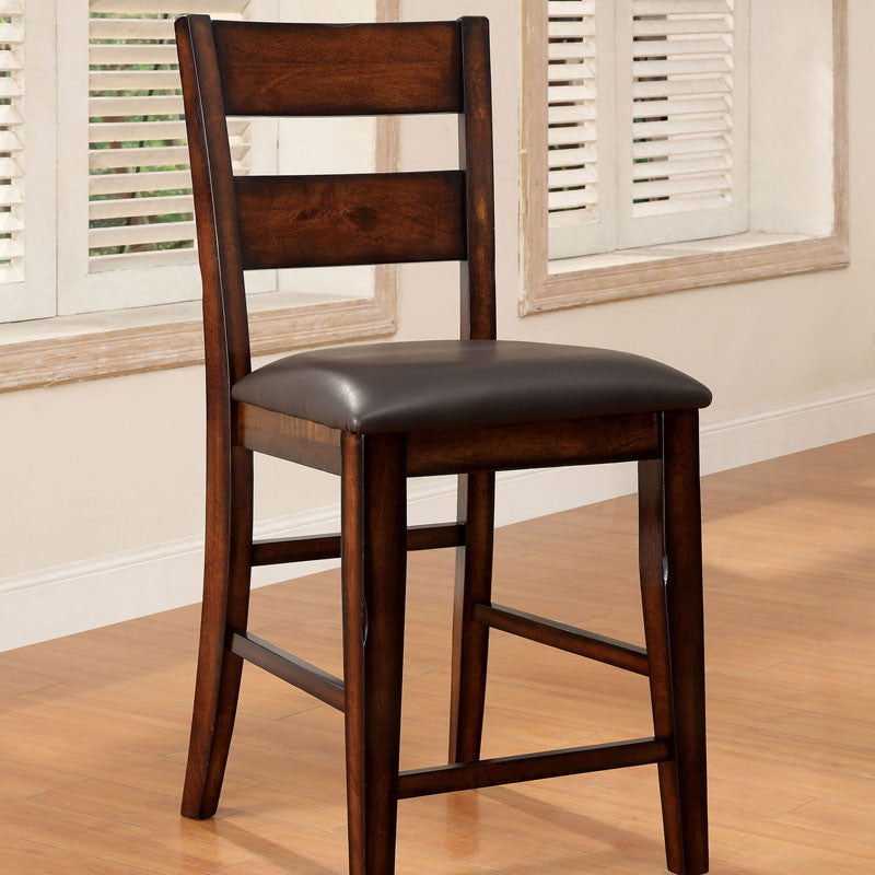 Rivington Transitional Dark Cherry Counter Height Dining Chair, Set of 2