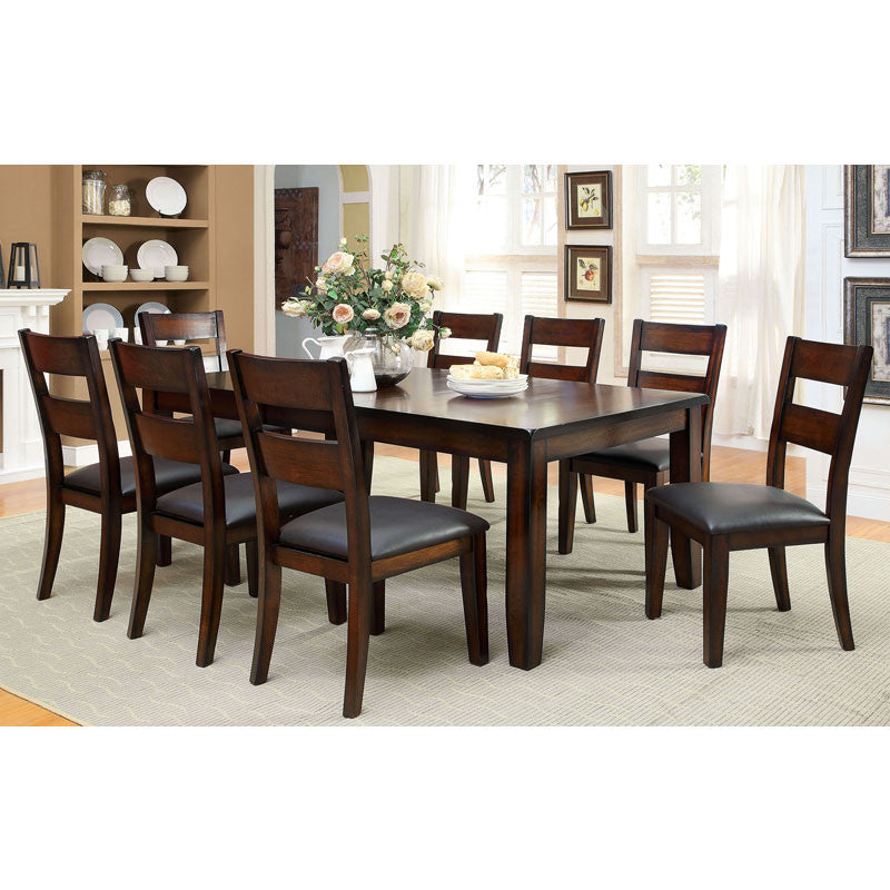 Cherry Dining Sets: Rivington Transitional Style Dark Cherry Finish Dining
