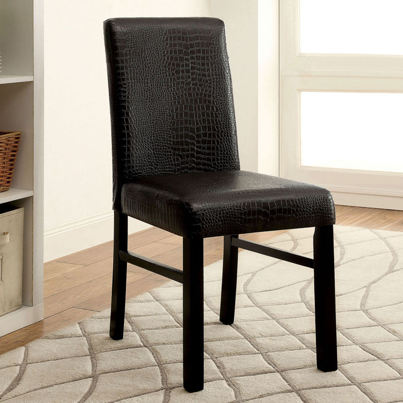 Rockham Contemporary Style Black Finish Dining Chair