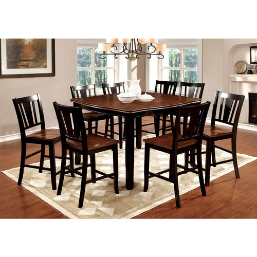 Dover Black & Cherry Finish Counter Height Dining Table Set