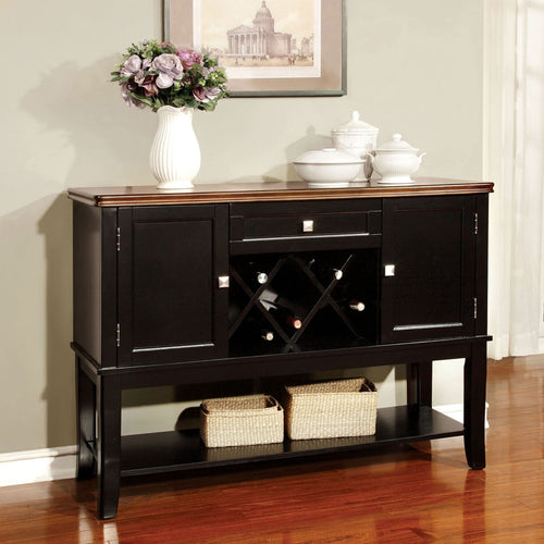 Dover Transitional Wine Rack Server Buffet Cabinet