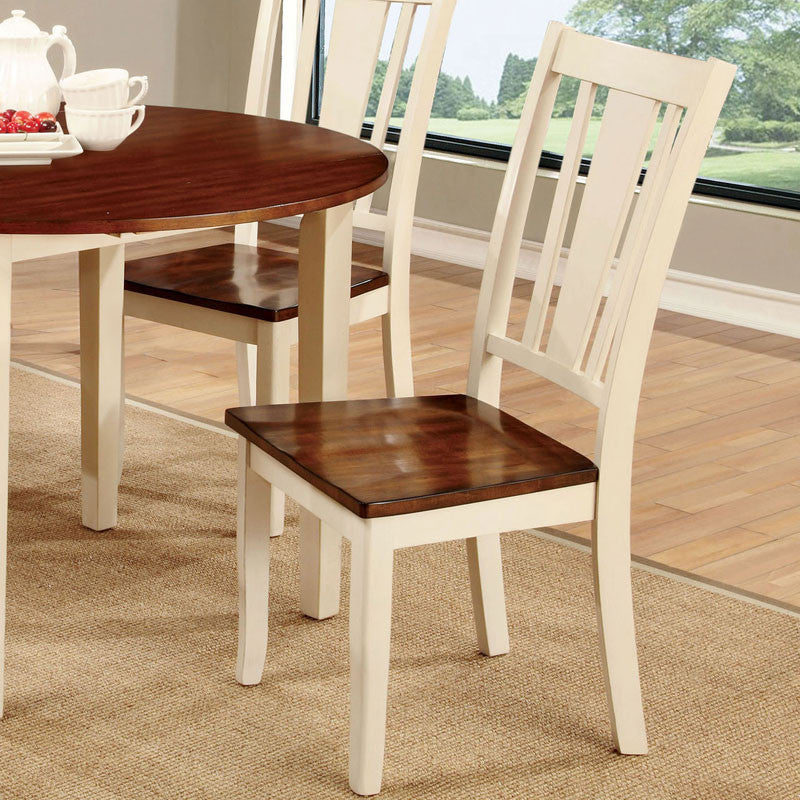 Dover Transitional Cherry Finish Dining Chair (Set of 2)