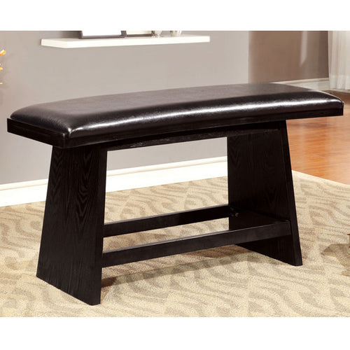 Hurley Black Finish Counter Height Dining Bench
