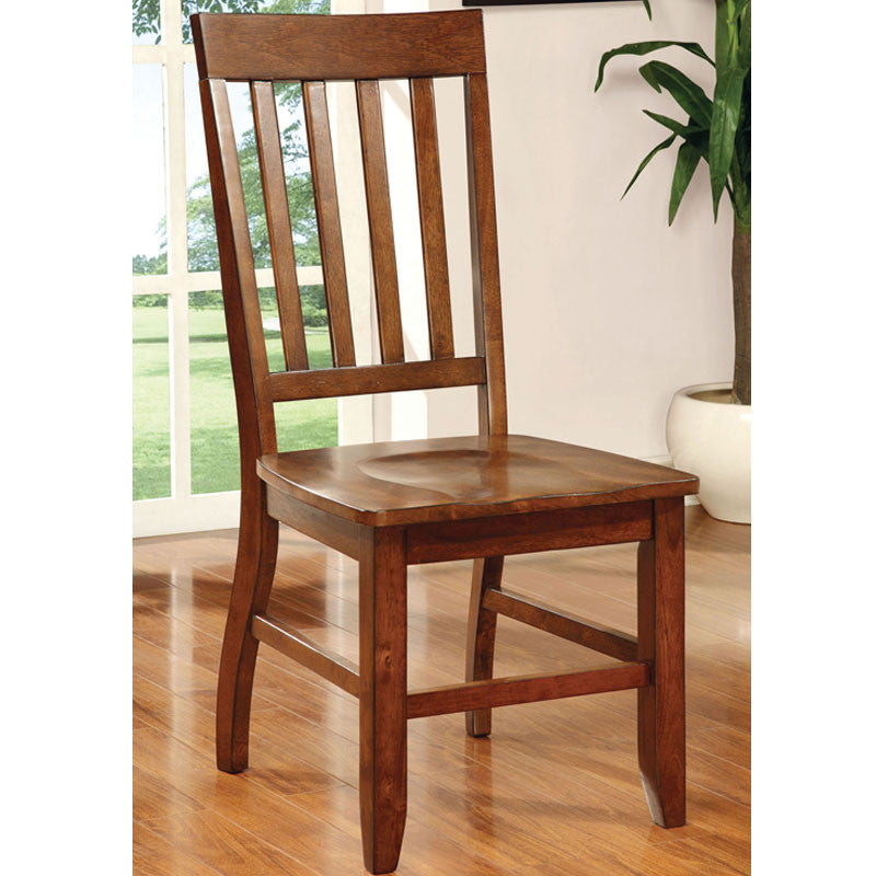 Gentry Transitional Style Vintage Oak Finish Dining Chair