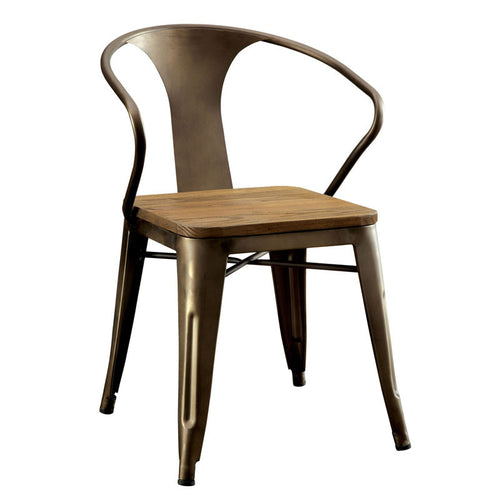 Britton Contemporary Style Natural Elm Finish Dining Chair