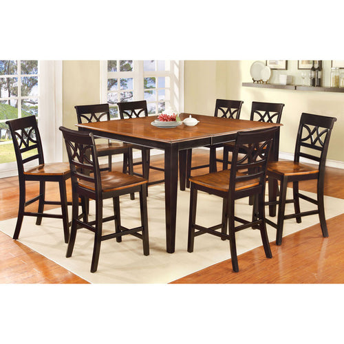 Smeaton Cherry & Black Finish Counter Height Dining Set