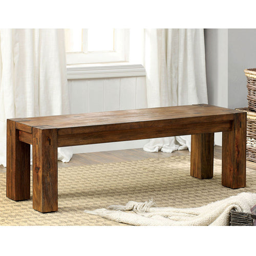 Lawrie French Country Style Dark Oak Dining Bench