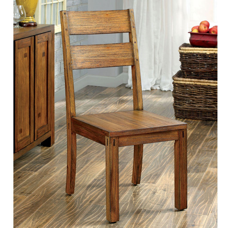 Lawrie French Country Style Dark Oak Finish Dining Chair