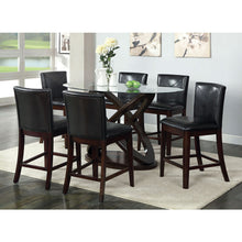 Glenwood Round Class Top Counter Height Table Set