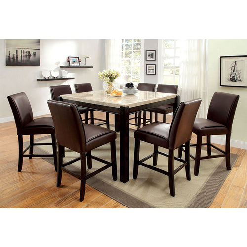 Gladstone Dark Walnut Finish Counter Height Table Set