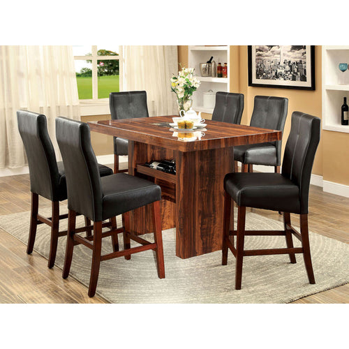 Matson Vintage Cherry Finish Counter Height Table Set