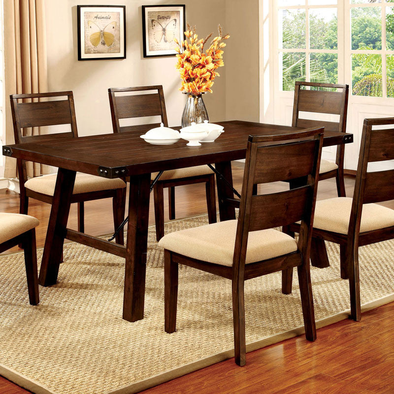Dwight Vintage Dark Oak Dining Set