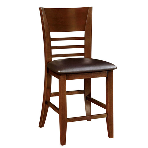 Hillview Brown Cherry Finish Counter Height Chair