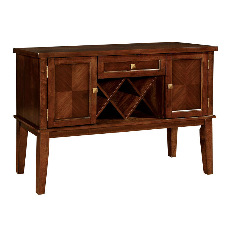 Hillview Dark Cherry Finish Server Buffet Cabinet