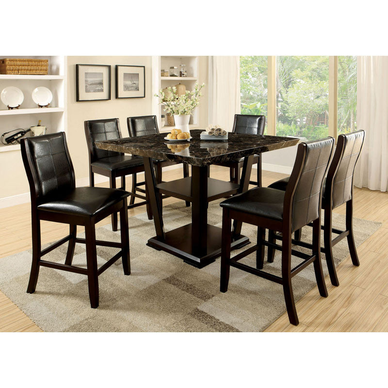 Snider Contemporary Dark Cherry Counter Height Dining Set