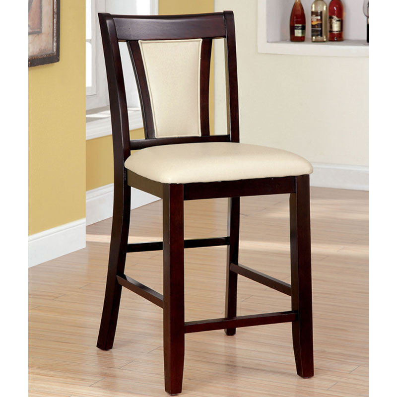 Brent Contemporary Dark Cherry Counter Height Chair (Set of 2)