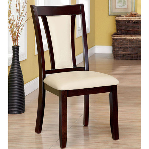 Brent Contemporary Ivory Leatherette Dining Chair (Set of 2)