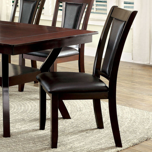 Matusz Traditional Style Dark Cherry Finish Dining Chairs