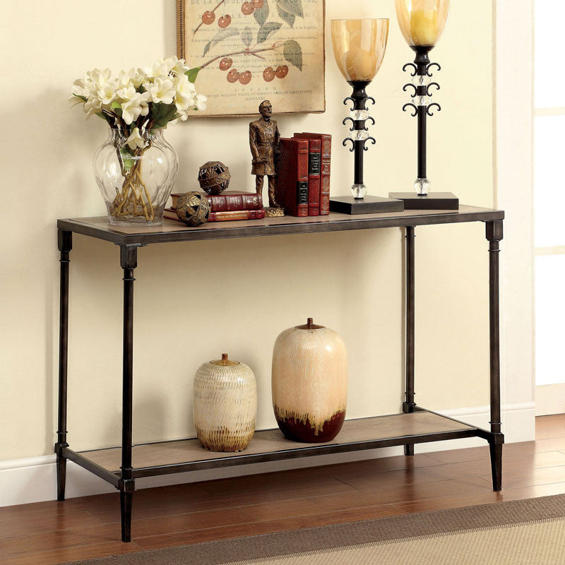 Lenore Natural Oak Finish Console Table