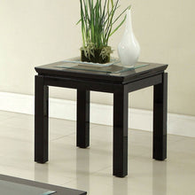 Venta Contemporary Glass Top End Table
