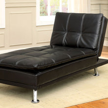 Hauser Black Leatherette Chaise