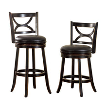 Warden Black Finish Swivel Bar Stool (24 inch or 29 inch)