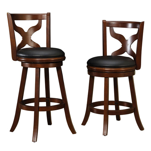 Baltic Dark Cherry Finish Swivel Bar Stool (24 inch or 29 inch)