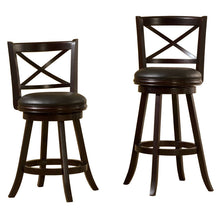 Barnes Espresso Leatherette Swivel Bar Stool (24 inch or 29 inch)