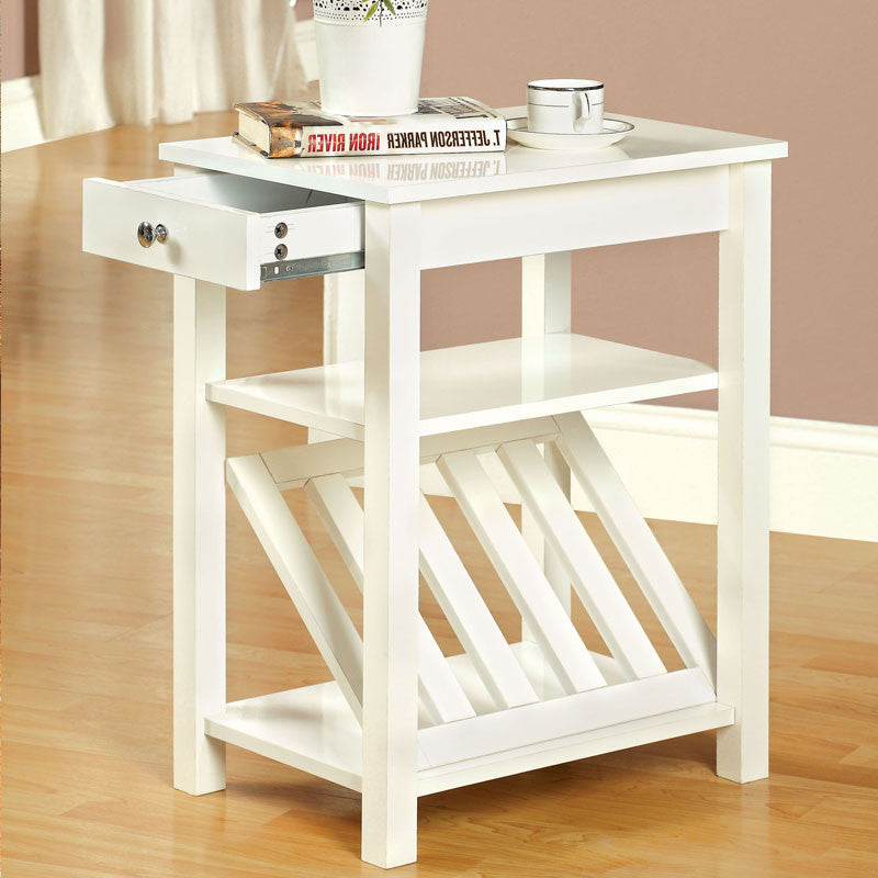 Cortz Classic Style End Table w/ Magazine Rack