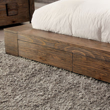 Janeiro II Rustic Natural Tone Platform Bed with Storage Footboard