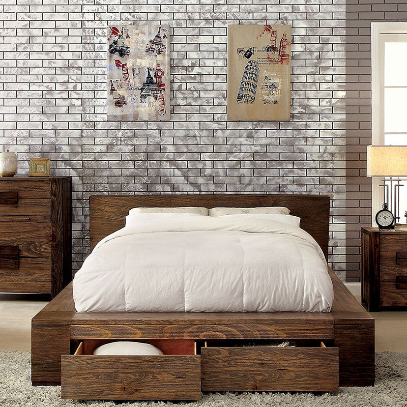 Janeiro II Rustic Natural Tone 6-Piece Bedroom Set