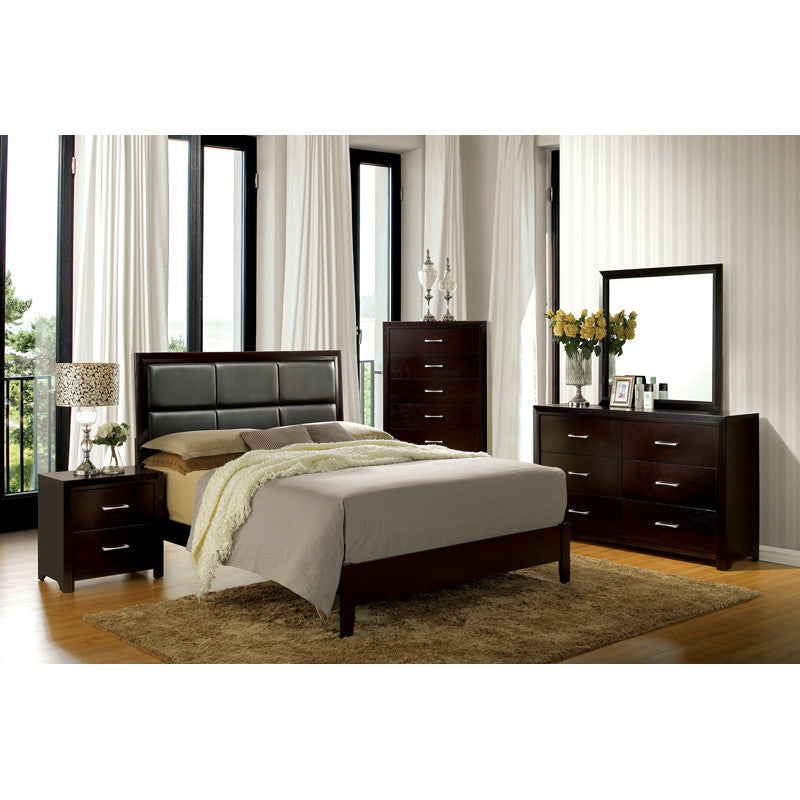 Janine Espresso Finish 6-Piece Bedroom Set