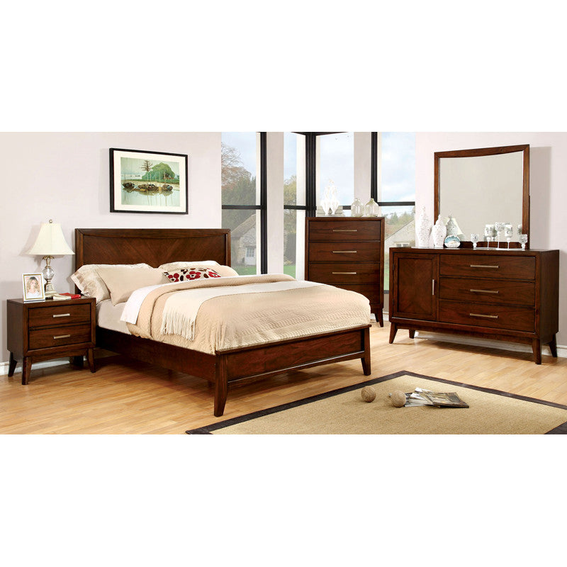 Snyder Brown Cherry Finish Piece Bedroom Set Shop At Home
