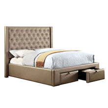 Corina Granite Leatherette Platform Bed