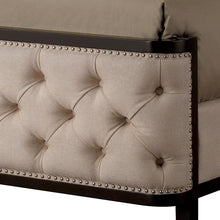 Chanelle Contemporary Beige Fabric Wingback Bed